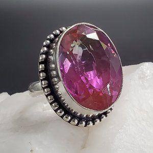 #GIFT Tourmaline Stone Silver Ring